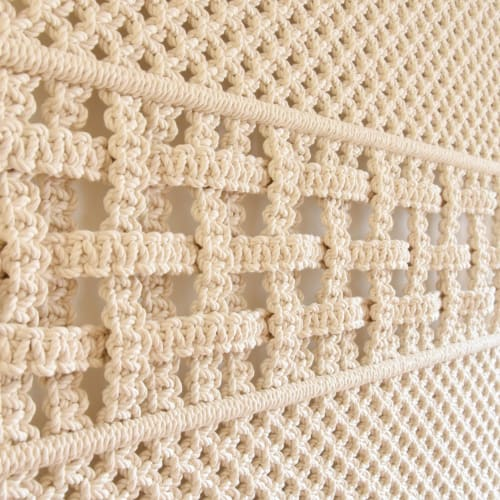 Macrame Wall Hanging by Tamar Samplonius seen at Private Residence, Amsterdam - WOVEN THROUGH TIME