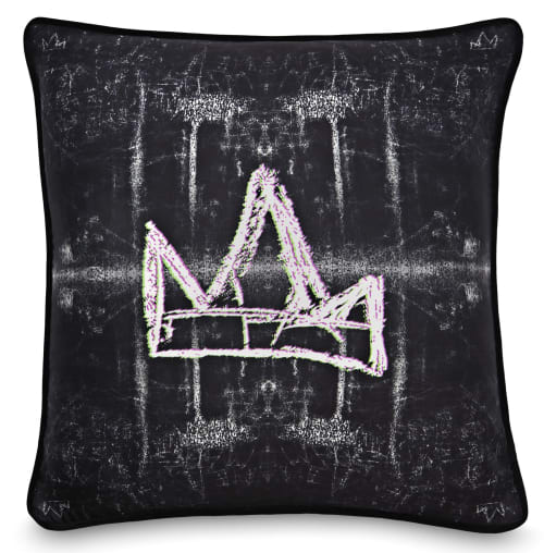 Pillows by Crown Objet seen at Private Residence, Halifax - Graffiti White Crown
