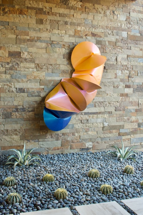 Wall Hangings by Jeremy Thomas Studio seen at Private Residence, Scottsdale - Aurora Violet
