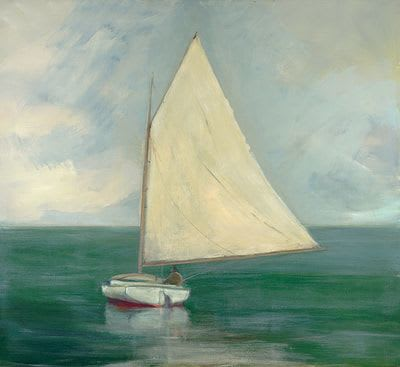 "Art & Wall Decor by YJ Contemporary seen at East Greenwich, East Greenwich - Anne Packard ""Cat Boat"""