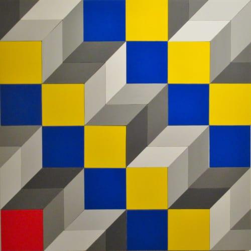 Paintings by Robert Wehkamp seen at Private Residence, Toronto - Op Art 1