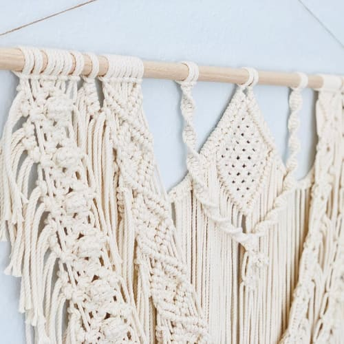 Macrame Wall Hanging by Love & Fiber seen at Private Residence, San Diego - Macrame Wall Hanging