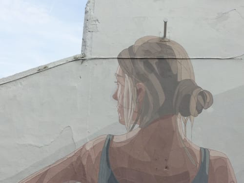 Murals by Taquen seen at Waterford, Waterford - Contemplation