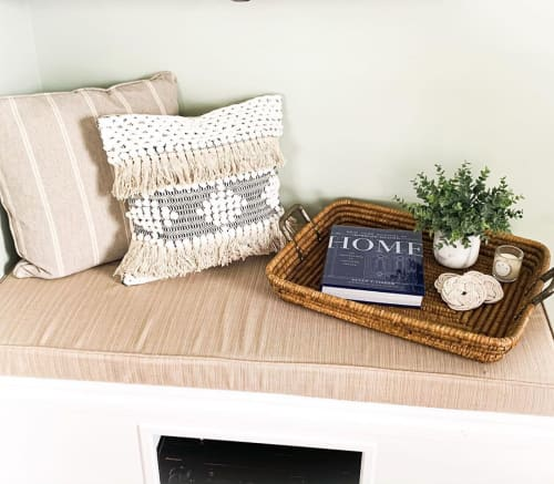 Pillows by Busa Designs LLC seen at Private Residence, Fairfield - Bohemian Fringe Pillow Cover