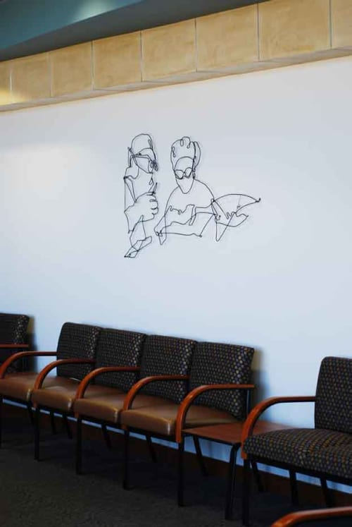 Sculptures by Wire Wall Art by Bart Soutendijk - Surgery