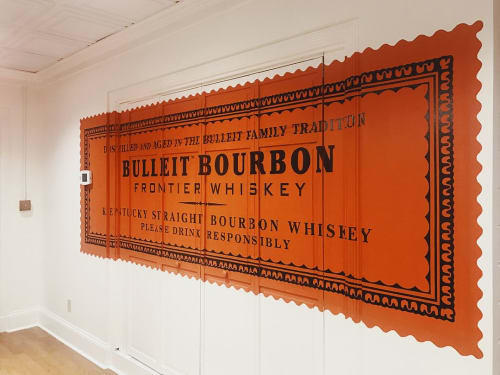 Murals by I Saw The Sign seen at Bulleit Frontier Whiskey Experience, Louisville - Bulleit Bourbon