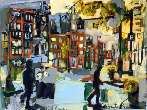 """""""Monument Square Early Morning"""" Painting   Paintings by Erin McGee Ferrell"""