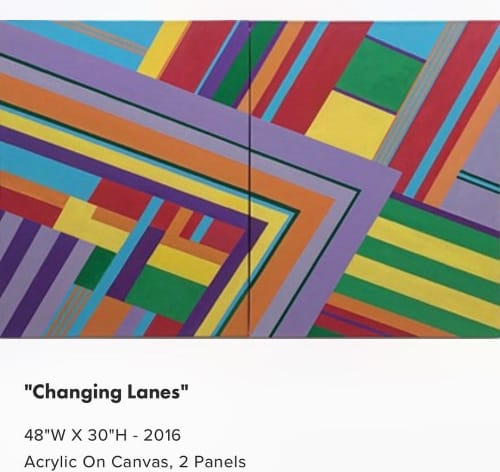 Paintings by Dale Weiss Art seen at Private Residence, Los Angeles - Changing Lanes