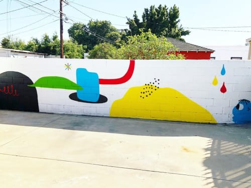 Murals by Darin seen at Private Residence, Los Angeles - Minimal Mural