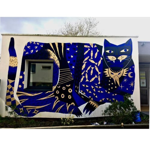 Murals by Kazy Usclef seen at Rennes, Rennes - Pacha