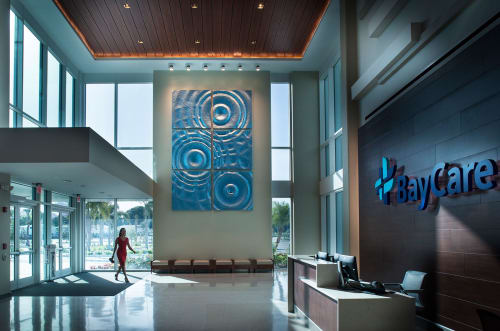 Public Sculptures by MGA Sculpture Studio seen at BayCare Health System, Clearwater - Ripple Effect