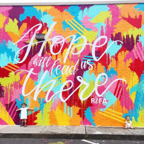 Street Murals by Erin Miller Wray seen at 133 Airways Blvd, Jackson - Hope Will Lead Us There