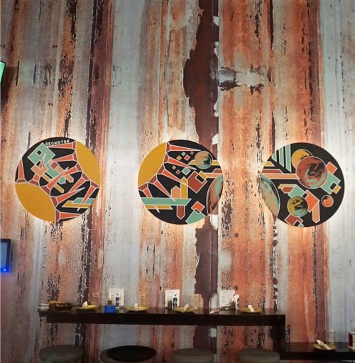 Murals by Zac Campbell seen at Punch Bowl Social Chicago, Chicago - Mural