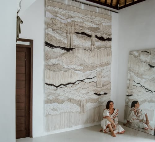 Macrame Wall Hanging by Ranran Design by Belen Senra seen at Private Residence, Miami - Extreme Macrame FIber Art Commission