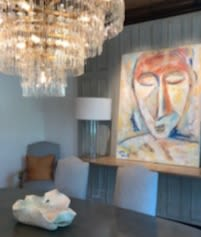 Paintings by Monterroso Studio seen at Private Residence, Houston - Oasis Series I