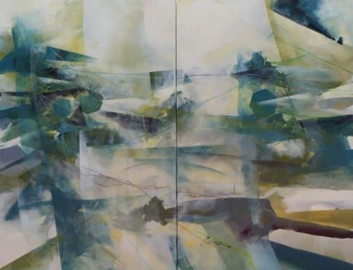 Murals by Cheryl Johnson Artist seen at Private Residence, Charlotte - Diptych Custom Mural