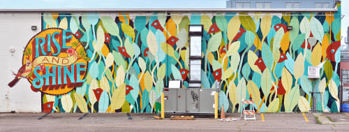 Street Murals by Emily Herr (HerrSuite) seen at Belle Isle Moonshine, Richmond - Welcoming Walls