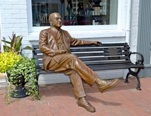 Public Sculptures by Jeff Hall Studio seen at Leesburg, Leesburg - Stanley Caulkins tribute