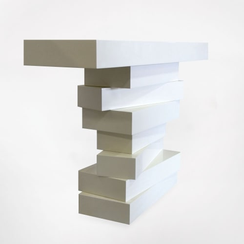 Tables by Cuffhome seen at Private Residence, Round Top - Stacked Console