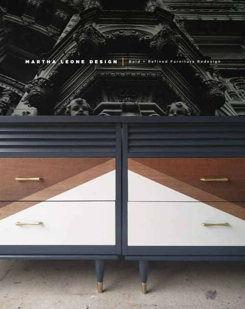 Furniture by Martha Leone Design seen at Private Residence - Interchangeable Custom Cabinets