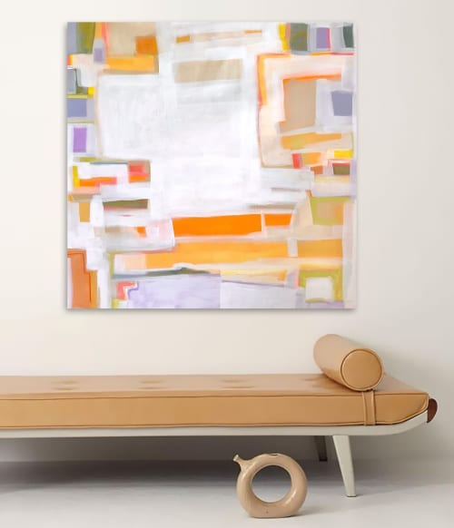 Paintings by Linnea Heide contemporary fine art seen at Creator's Studio, Asheville - 'VERMiLiON CLiFFS'