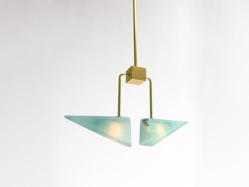 Pendants by Bianco Light + Space seen at The Future Perfect, New York - Equinox Pendant