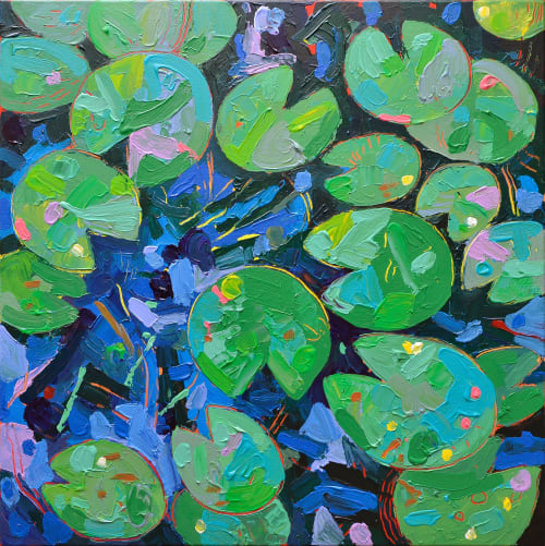Paintings by Jvilla Art seen at Private Residence, Amsterdam - Tasman Lily Pond 18