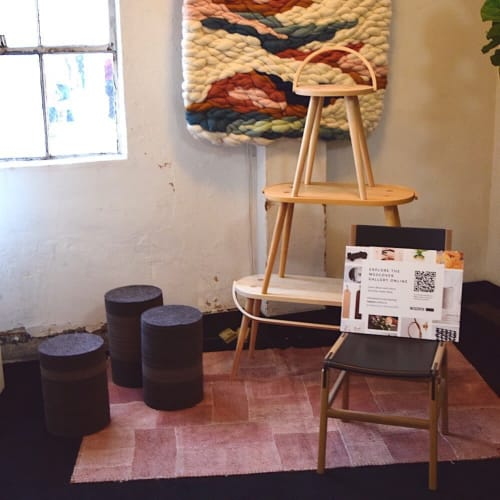 Chairs by Jason Lees Design seen at Wescover Gallery at West Coast Craft SF 2019, San Francisco - Industrial Felt Table/Stool - Set Of 3