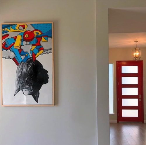 Paintings by Trent Thompson seen at Private Residence, San Diego - Thinking