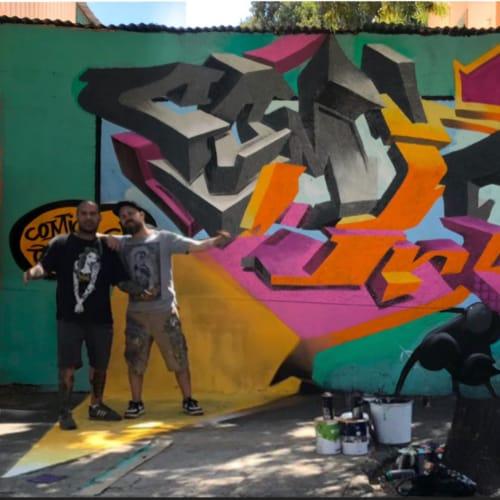 Street Murals by Jesse Smith seen at Santiago, Santiago - Street Mural