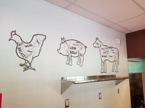 Murals by Beth Shadur seen at Highland Park, Highland Park - Murals for food service area at Ravinia Festival Park