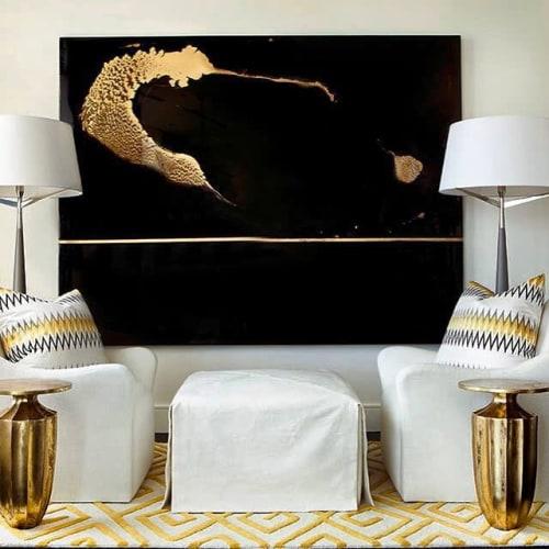 Wall Hangings by Aaron Whitehouse seen at Waldorf Astoria Atlanta Buckhead, Atlanta - The Golden Hummingbird
