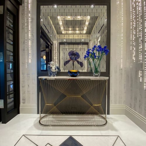 Tables by Ziad Alonaizy Design seen at Private Residence, Naples - Aegis - P Console Table