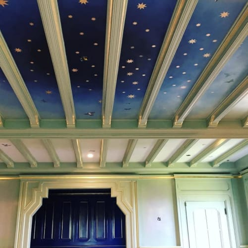 Wall Treatments by Caroline Lizarraga seen at Le Petit Trianon Mansion, San Francisco - Ombré Ceiling