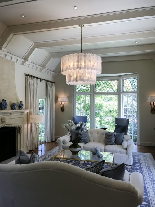 Chandeliers by Ron Dier Design seen at Private Residence, San Francisco - Selenite Chandelier 2 tier