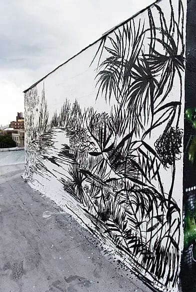 """Street Murals by Fleur Blume seen at Private Residence - """"Jungle"""" Mural"""
