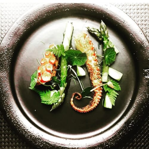 Ceramic Plates by Muubs seen at Restaurant Me Mu, Vejle - Black Plate Swift