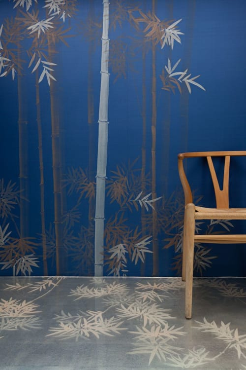 Wallpaper by MISHA seen at Private Residence, Milan - Bamboo Forest