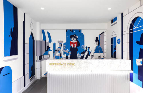 Murals by Roman Muradov seen at Warby Parker San Francisco, San Francisco - Warby Parker