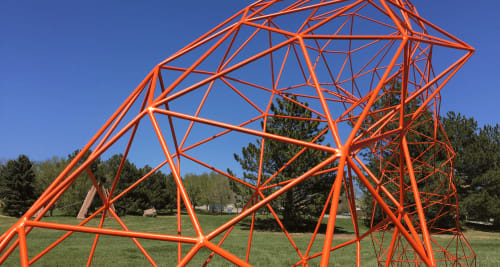 Public Sculptures by Jodie Roth Cooper/TBD Studio seen at Arvada Center for the Arts and Humanities, Arvada - Quarter Mile Arch