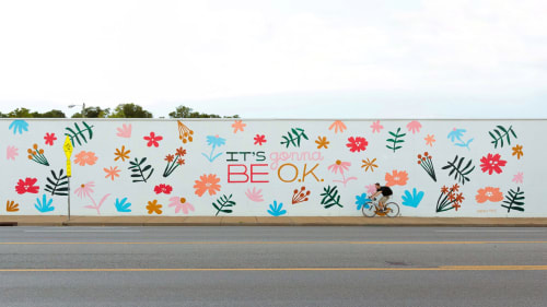 """Murals by Sarah Tate seen at 3020 Charlotte Ave, Nashville - """"It's Gonna Be O.K."""" Mural"""