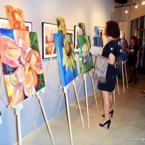 Paintings by Caroline Karp Artist seen at Private Residence, Safety Harbor - Chakra Flower Paintings