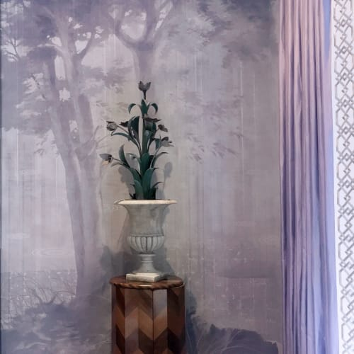 Murals by Alan Carroll Studio seen at Private Residence, Atlanta - Hand-painted wall mural