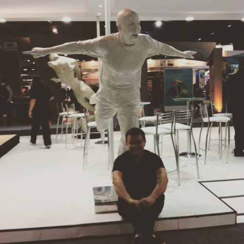 Public Sculptures by Cicero D'Ávila seen at Rome Fiumicino Airport, Fiumicino - Ronaldo