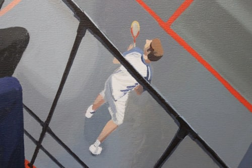 Murals by Ben Cowan seen at Racquet Club of Chicago, Chicago - Real Tennis and Rackets Painting