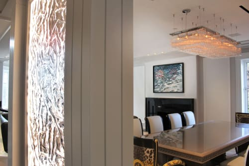 """Interior Design by Amelia Alcock-White seen at Private Residence, Vancouver, Vancouver - """"Vessel"""" Installed painting for Peter Rose Architects and Interiors"""