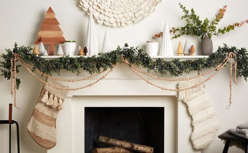 Art & Wall Decor by MarquisWeaves seen at Private Residence, New York - Wood Bead Garland
