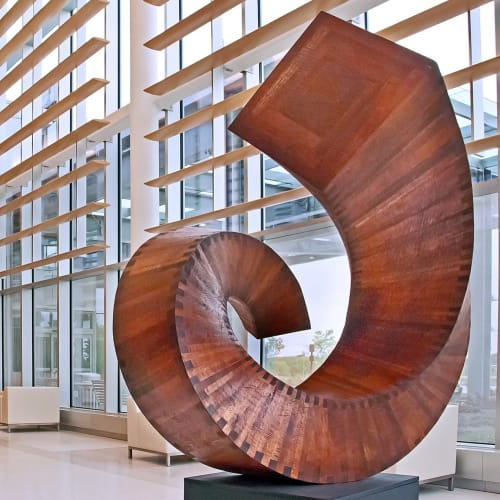 Public Sculptures by Jim Perry Studio seen at Princeton Medical Center at Plainsboro - Allegro