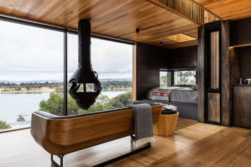 Fireplaces by Mattila Studio seen at Private Residence, Hobart - Fireplace