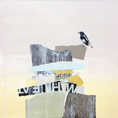 Paintings by Lauren Matsumoto seen at Private Residence, Brooklyn - The Rise and Fall No. 5